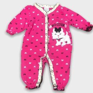 4/$20🥳 Pink Cotton Footless Cat Print Sleeper